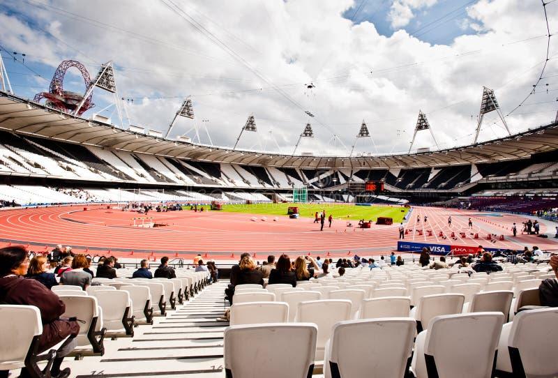 Londra 2012: Stadio Olimpico Immagine Editoriale