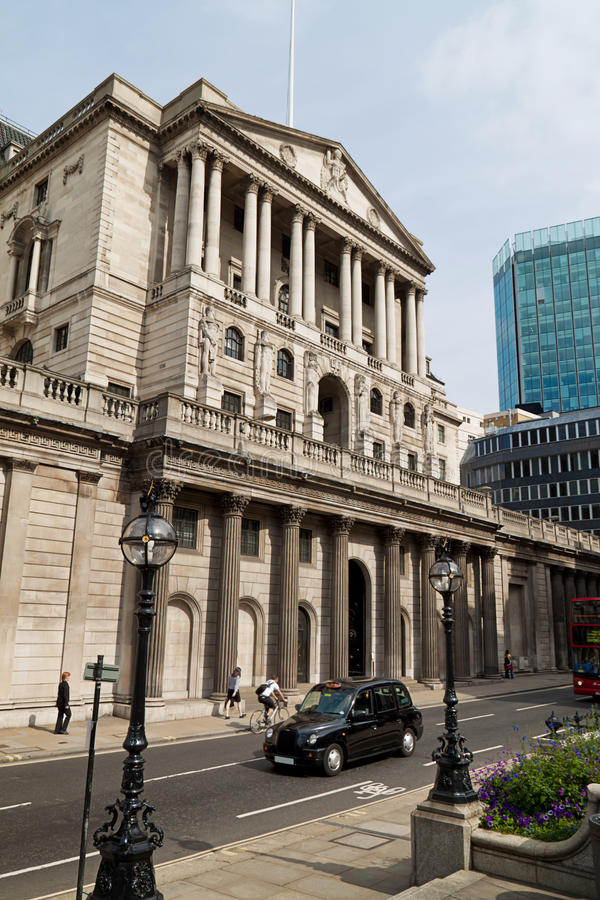 Londra, banca di Inghilterra fotografia stock libera da diritti