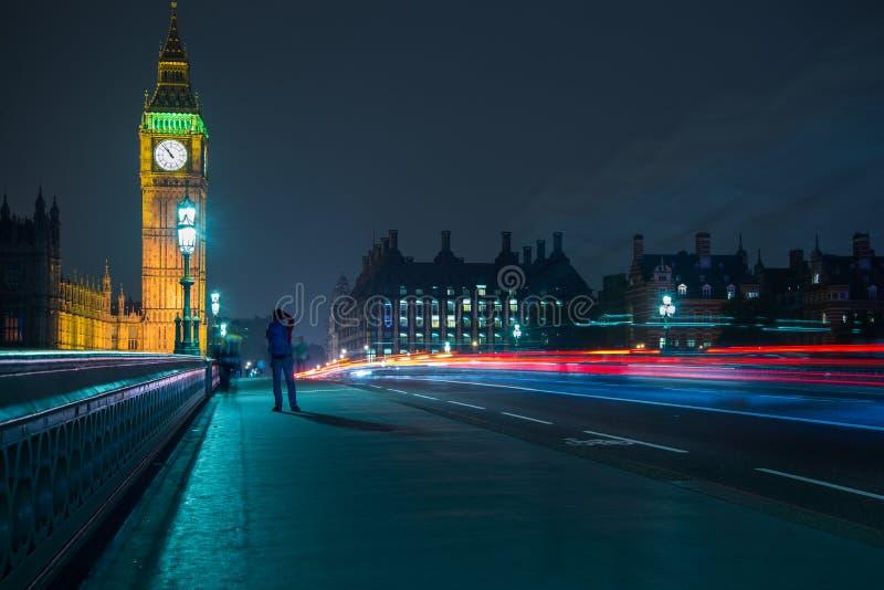 Londra Big Ben e sede del parlamento fotografia stock