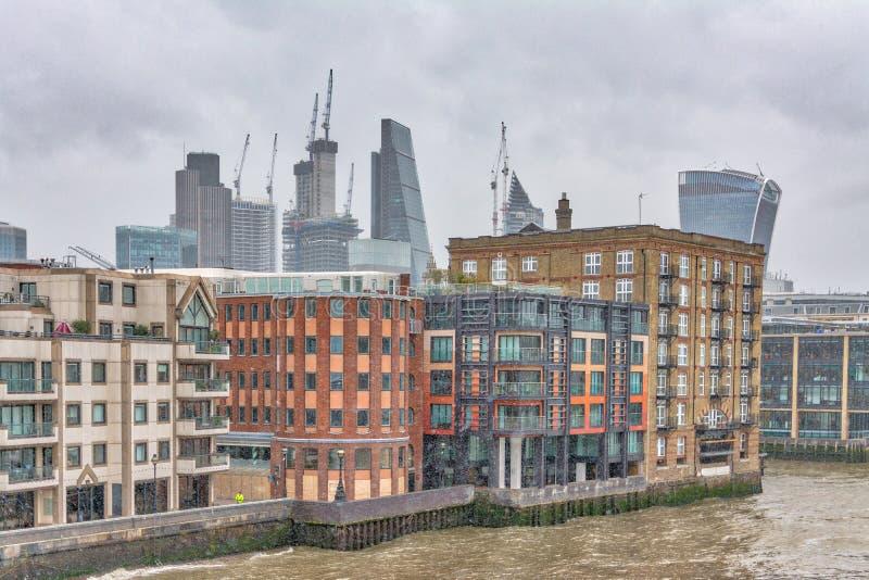 Londra durante la grande gelata immagine stock libera da diritti
