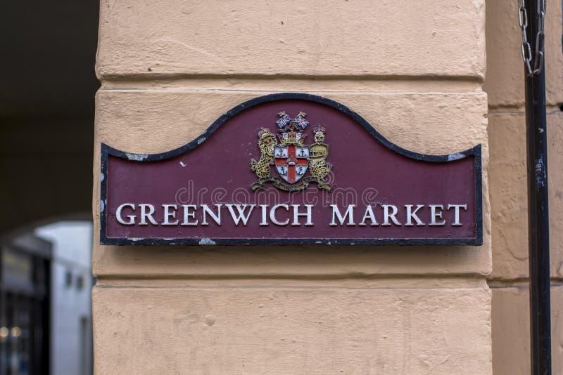 Londra, Gran Bretagna 12 aprile 2019 Mercato di Greenwich fotografia stock