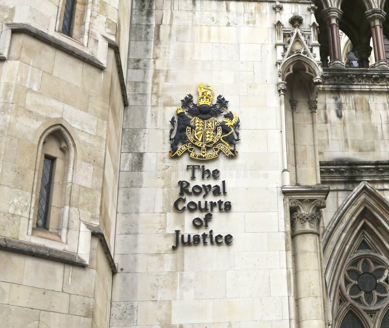 Londra, Gran Bretagna - 23 maggio 2016: La Corte di Giustizia reale immagini stock libere da diritti