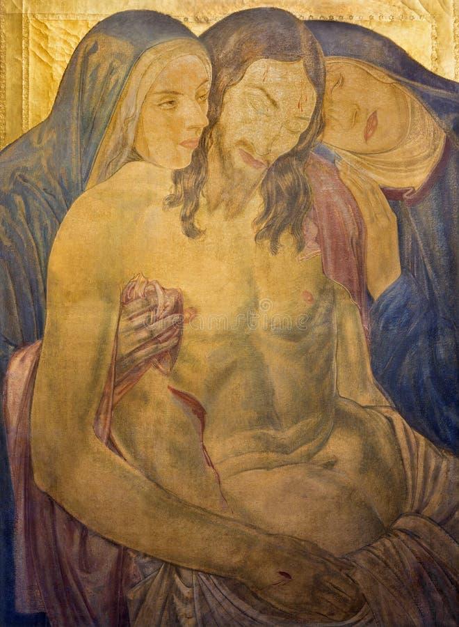 LONDRA, GRAN BRETAGNA - 17 SETTEMBRE 2017: La pittura del Pieta nella chiesa del ` s di St James, Piccadilly dalla F Ernest Jacks immagine stock libera da diritti