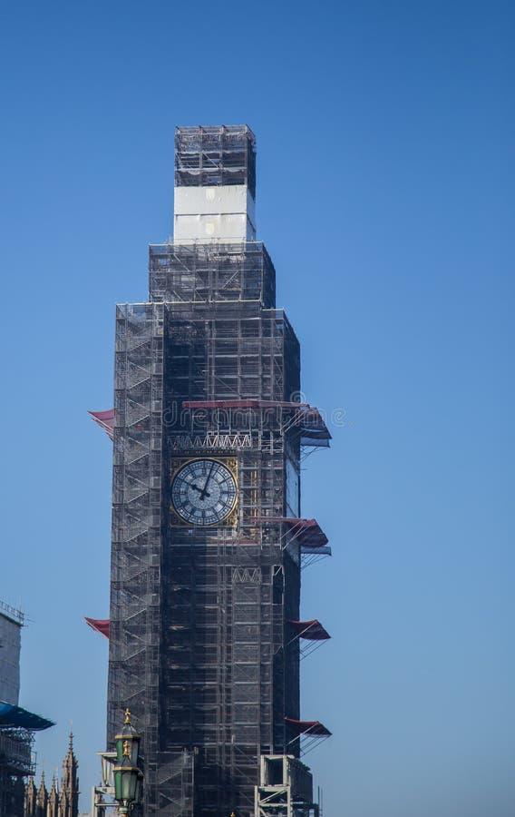 Londra Grande Ben Reconstruction 2019 immagini stock libere da diritti