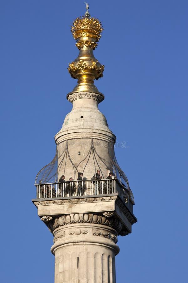 Londra - Il Monumento - L Inghilterra Immagine Editoriale