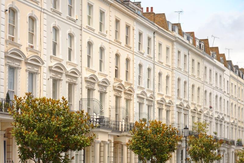 Londra, Inghilterra: Case di città a terrazze georgiane fotografie stock libere da diritti