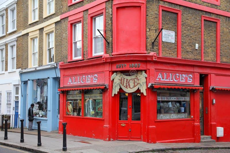 Londra - Notting Hill Fotografia Editoriale