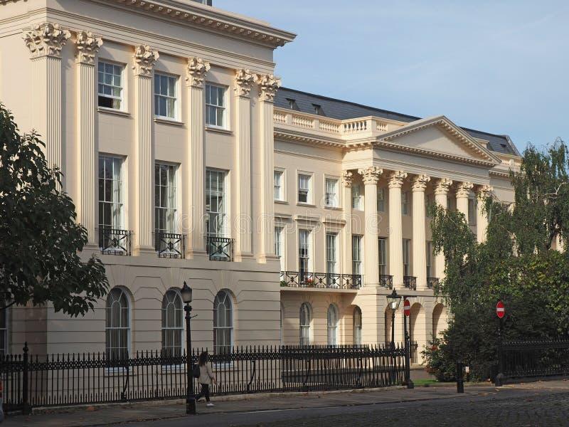Londra, palazzo di periodo di Regency fotografie stock libere da diritti
