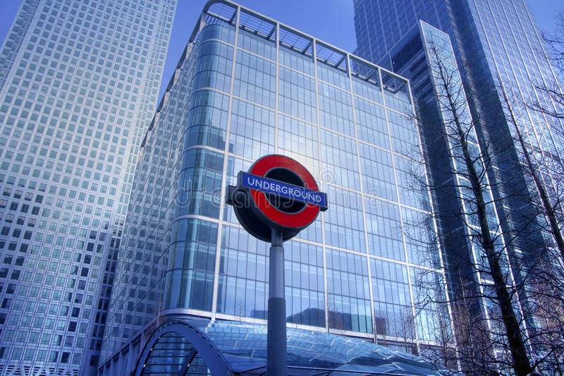 LONDRA, REGNO UNITO - CANARY WHARF, HDR immagine stock