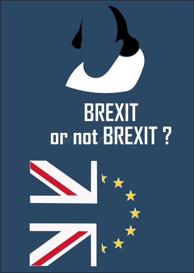 Londra, Regno Unito, 04 28 2016 Manifesto che rappresenta il dibattito sull'uscita dell'Unione Europea, anche chiamata Brexit illustrazione di stock