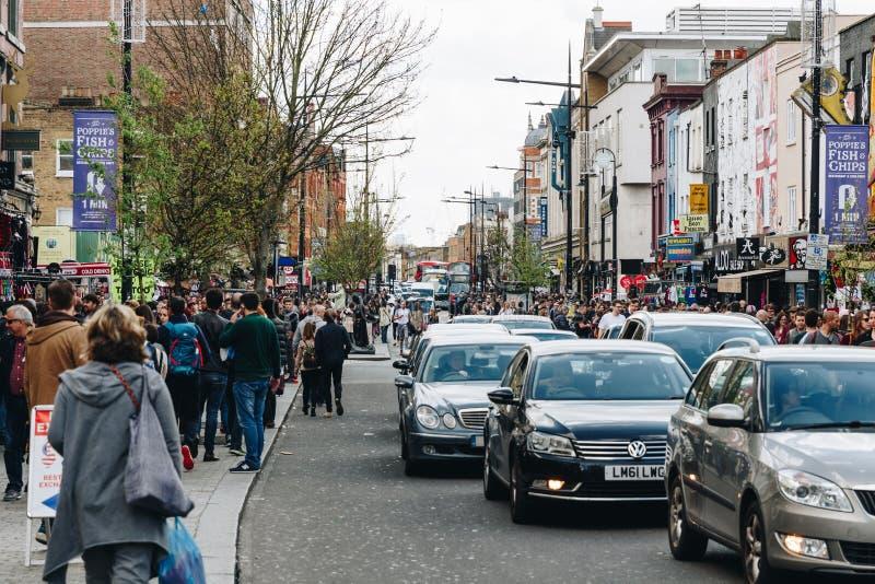 Londra, Regno Unito - secondo dell'aprile 2017: Camden Lock Village, alt famoso fotografia stock libera da diritti