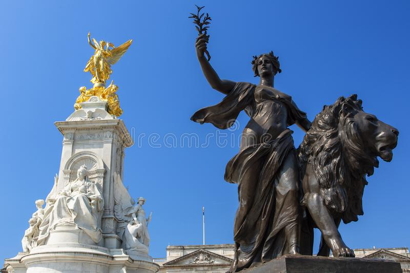 Londra, Victoria Memorial Front of Buckingham Palace immagine stock