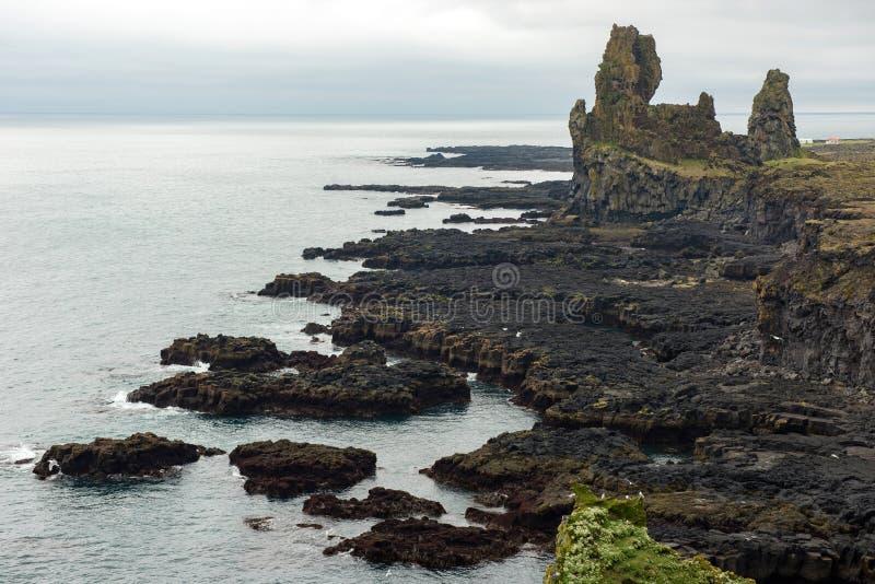 Londrangar Basalt Cliffs in Iceland stock image