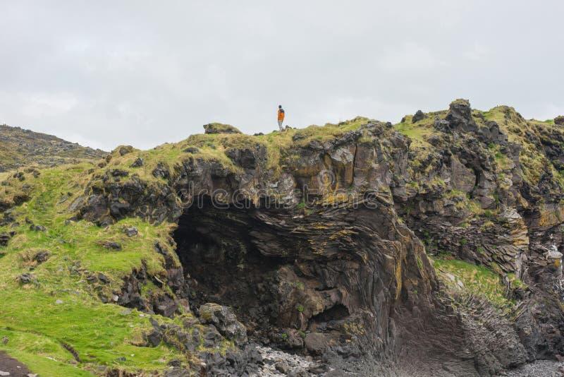 Londrangar Basalt Cliffs in Iceland stock images