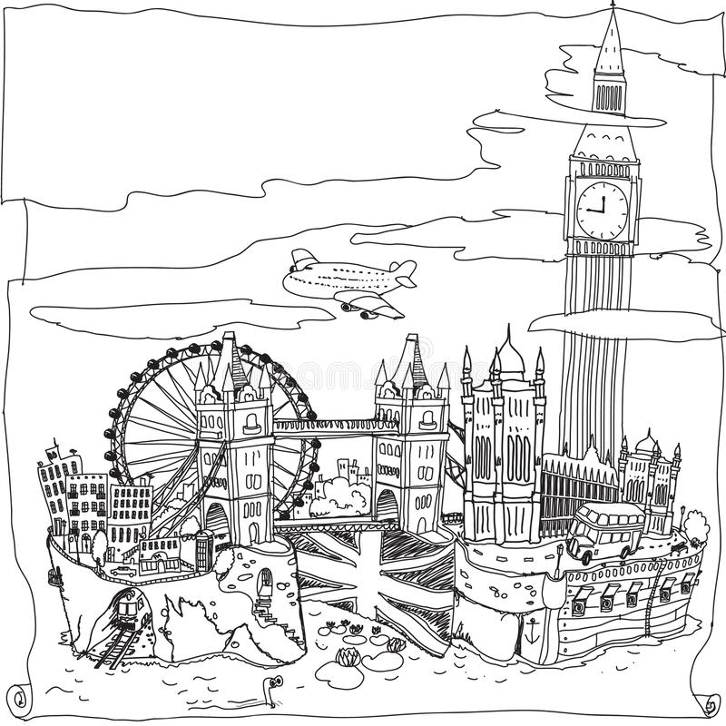 Londres illustration stock
