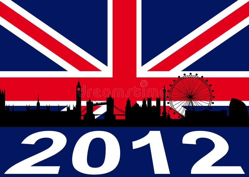 Londres 2012 ilustração royalty free