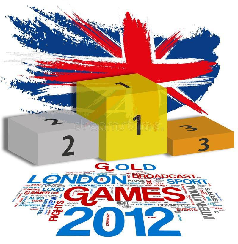 Londres 2012 ilustração do vetor