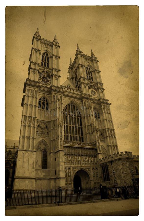 Londres. Abadia de Westminster do vintage ilustração royalty free