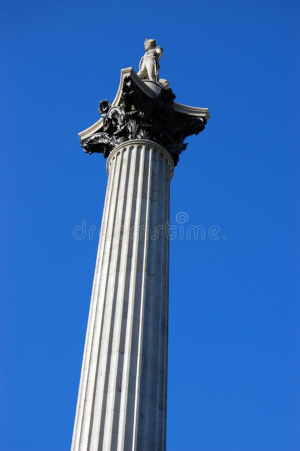 Londres, Angleterre, pilier de Nelsons photo libre de droits