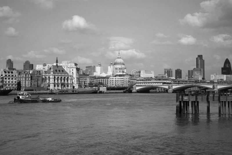 Londres blanco y negro imágenes de archivo libres de regalías