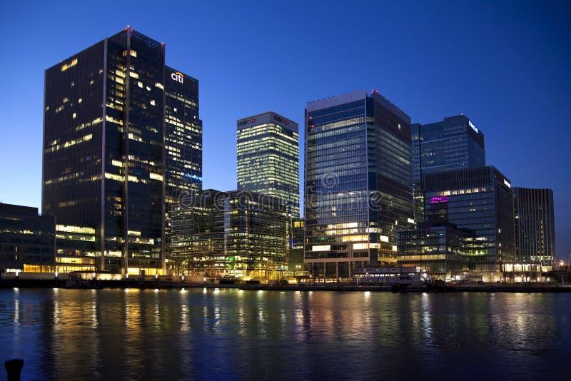 LONDRES, CANARY WHARF R-U image libre de droits