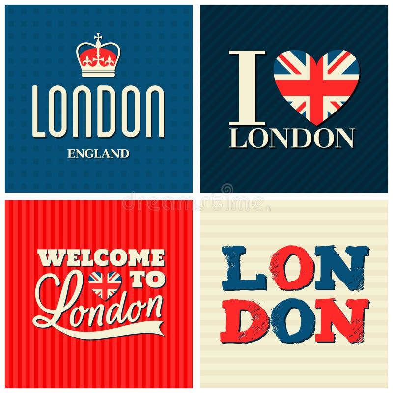 Londres carda la colección stock de ilustración