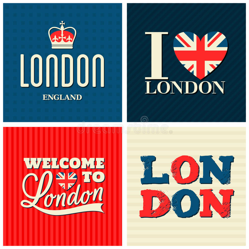 Londres carde la collection illustration stock