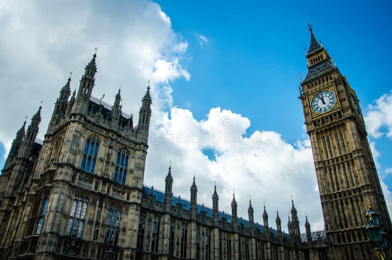 Londres - casa do parlamento, Big Ben fotografia de stock