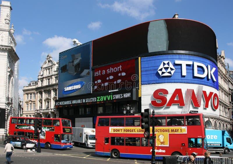Londres - circo de Piccadilly fotos de stock royalty free