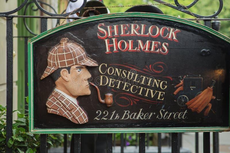 LONDRES - 24 DE AGOSTO DE 2017: O museu de Sherlock Holmes imagem de stock royalty free
