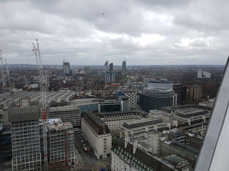 Londres desde arriba de la alta visión fotografía de archivo