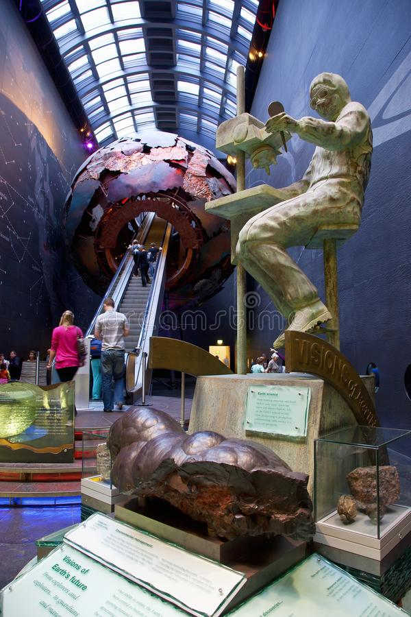 Londres, The Earth Galleries au Natural History Museum de Londres photo stock