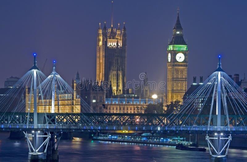 Londres en la noche imágenes de archivo libres de regalías
