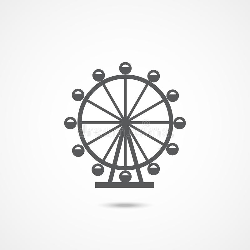 Londres Ferris Wheel Icon libre illustration