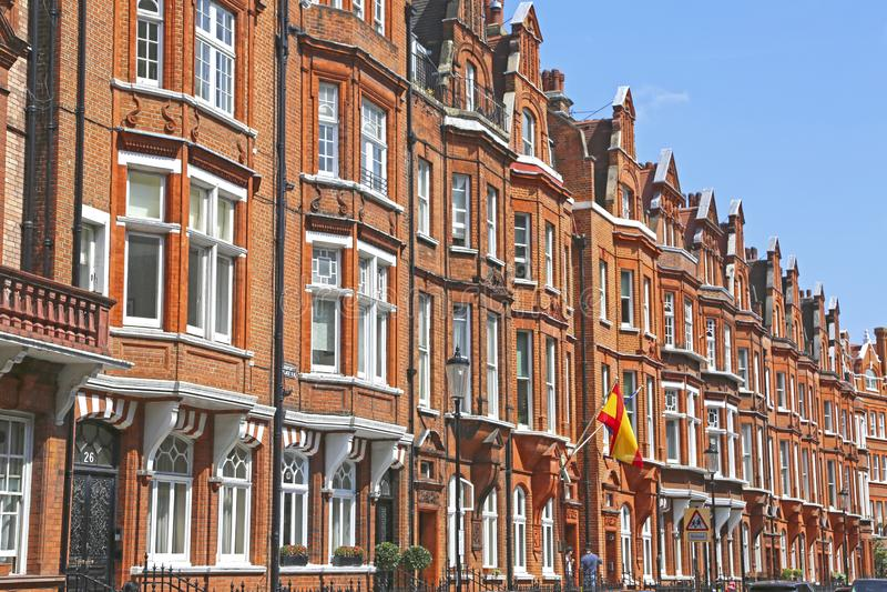 Londres, Gran Bretaña - 26 de mayo de 2016: Consulado español imagen de archivo libre de regalías