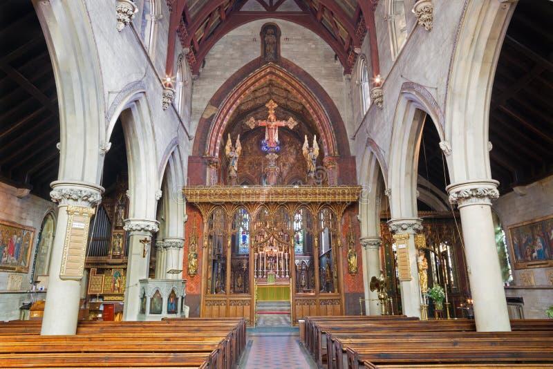 LONDRES, GRANDE-BRETAGNE - 17 SEPTEMBRE 2017 : La nef de St Barnabas, Pimlico d'église photos stock