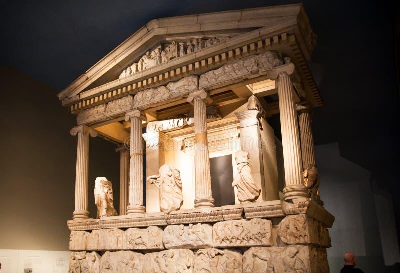 Londres Hall d'exposition de musée britannique Collection du grec ancien photographie stock libre de droits