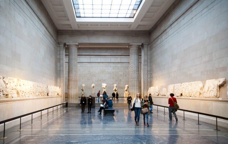 Londres Hall d'exposition de musée britannique Collection du grec ancien photo libre de droits