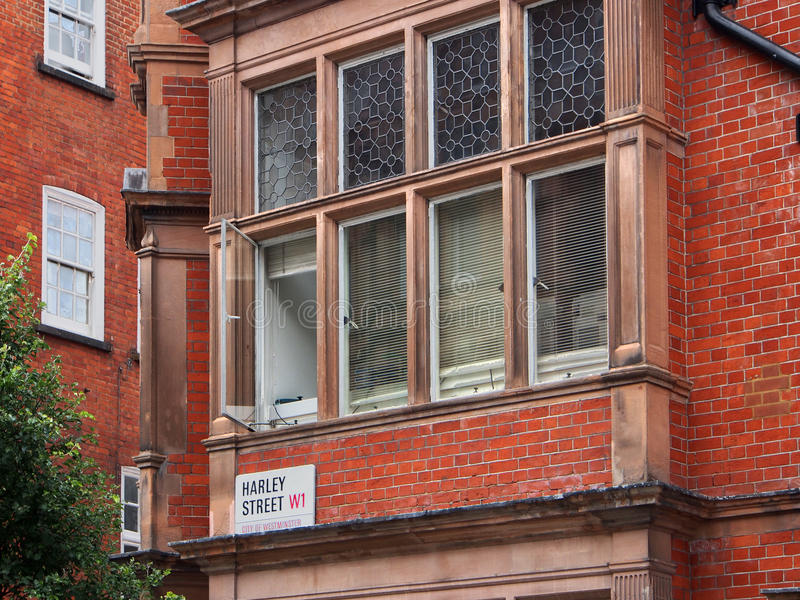 Londres, Harley Street photo stock