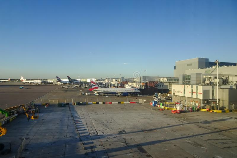 Londres Heathrow, 16/01/2019 - vista da sala de estar de Virgin Atlantic imagens de stock royalty free