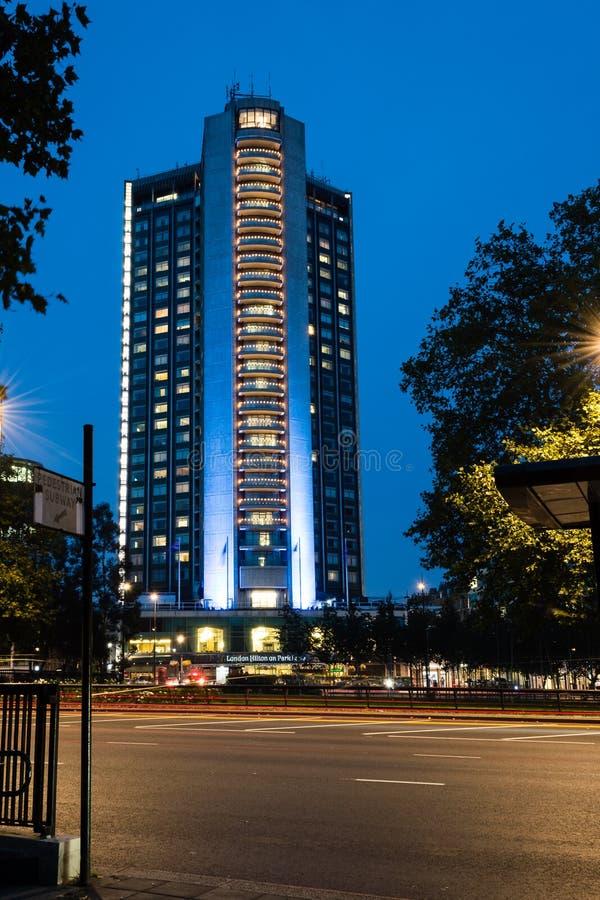 Londres Hilton Park Lane photo libre de droits