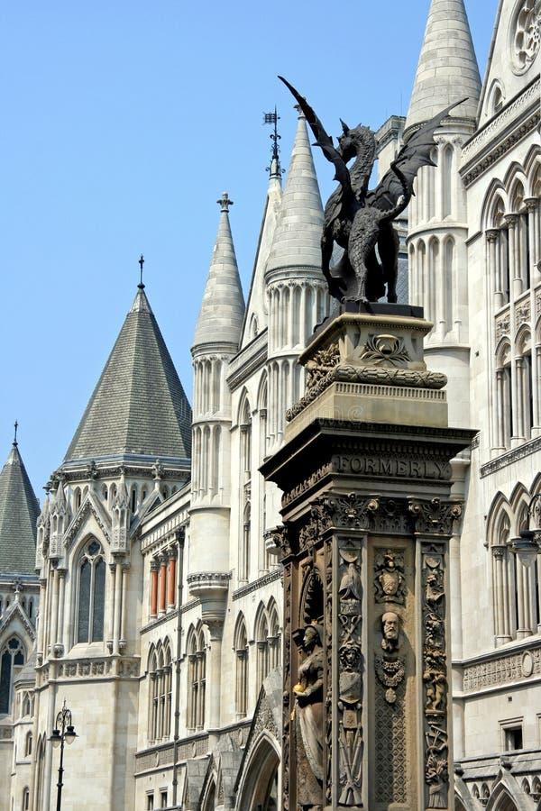 Londres, monumento da barra do templo imagem de stock
