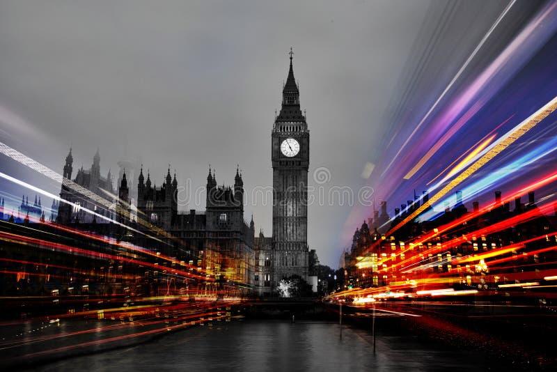 Londres na noite foto de stock