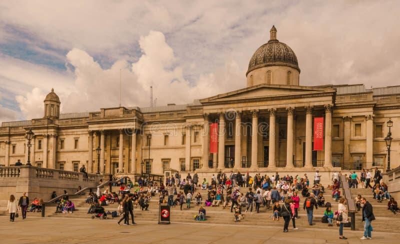 Londres - National Gallery, imagen de archivo
