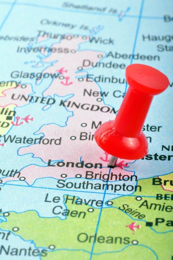 Londres no mapa imagem de stock royalty free