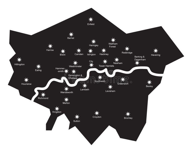 Londres par nuit photos stock