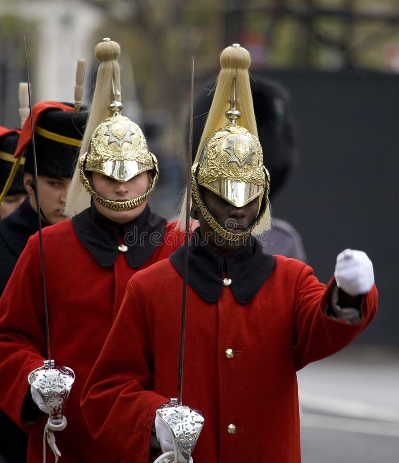 Londres - parada da relembrança fotos de stock royalty free