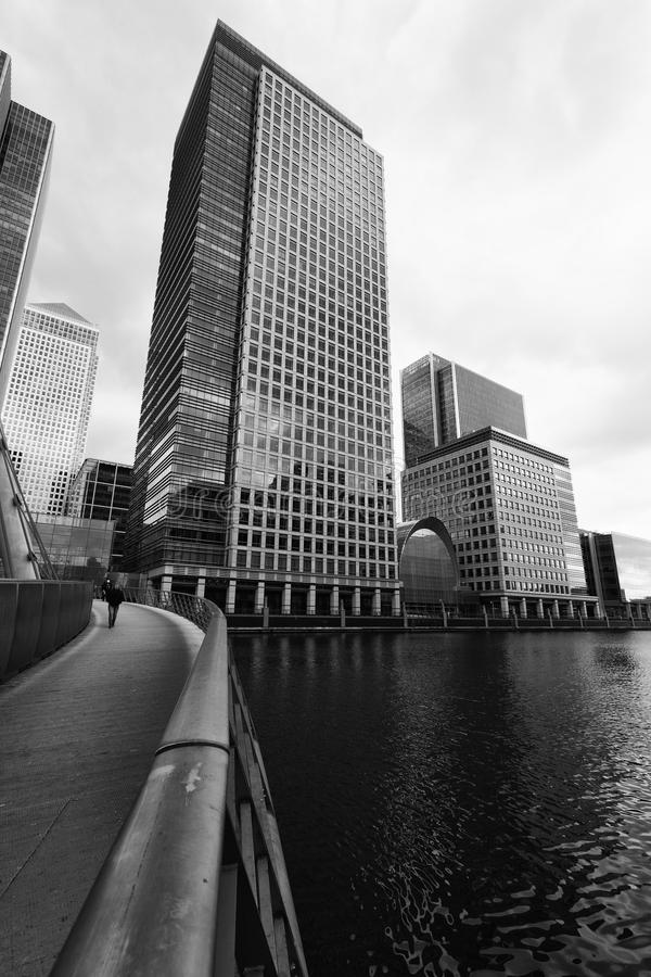 Londres, quartiers des docks image stock