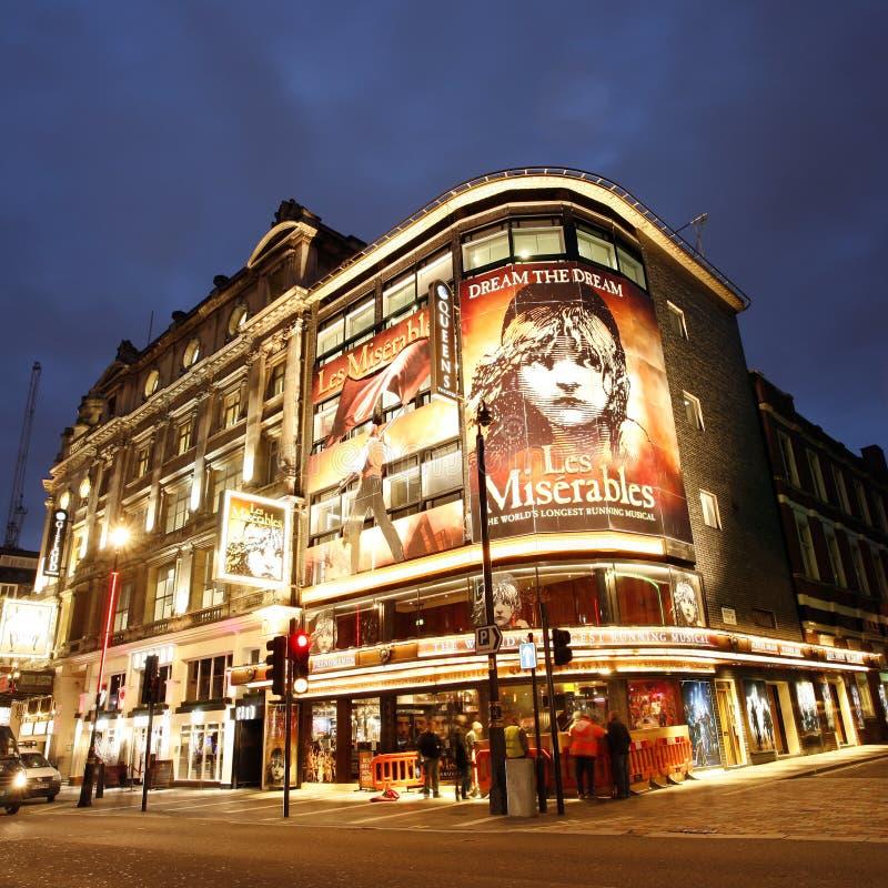 Théâtre de Londres, le théâtre de la Reine image libre de droits