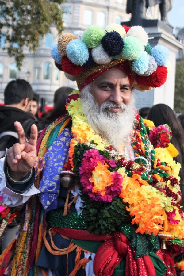 Londres, R-U - 16 octobre 2016 : Le maire du festival de Londres des interprètes et des scènes de Diwali chez Trafalgar Square photographie stock